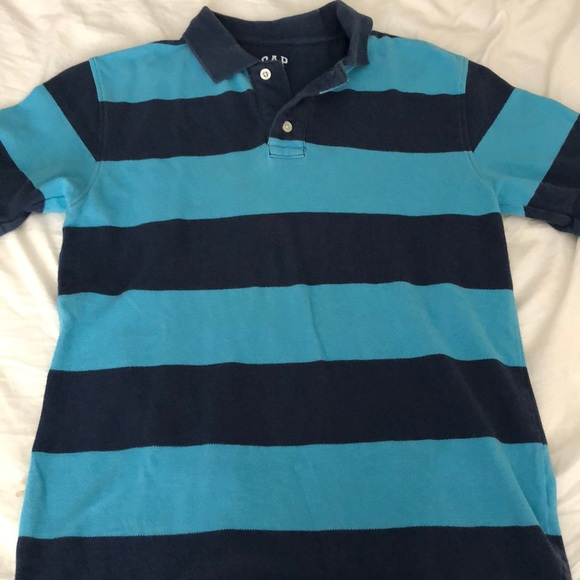 GAP Other - Boys blue striped gap kids rugby polo shirt